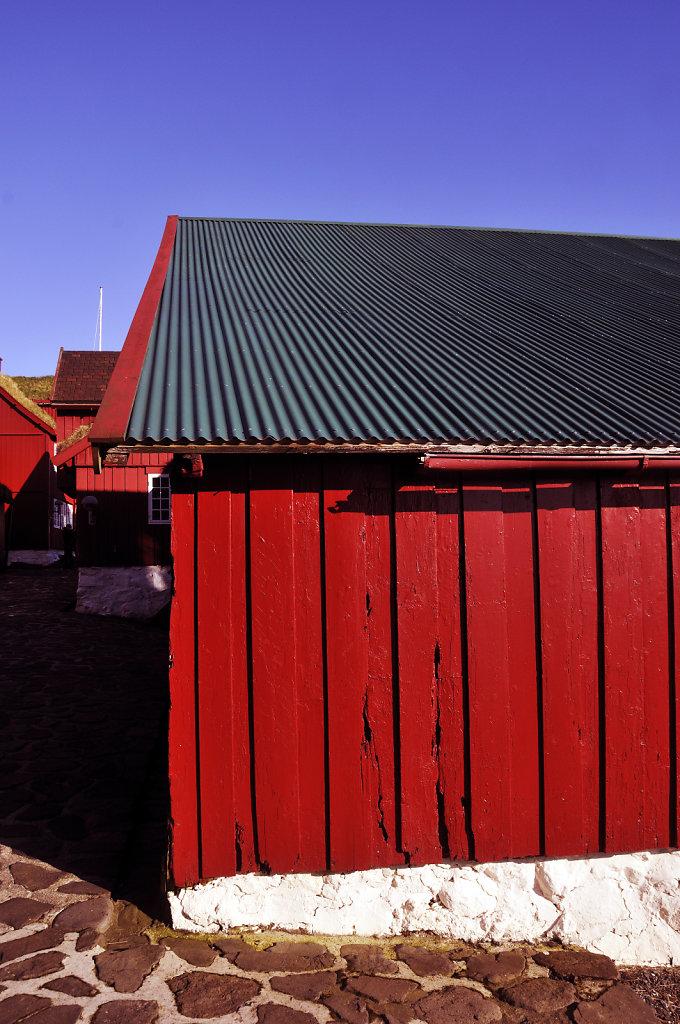 färöer inseln - thorshaven - tinganes detail