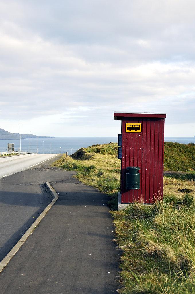 färöer inseln - thorshaven – die bushalte