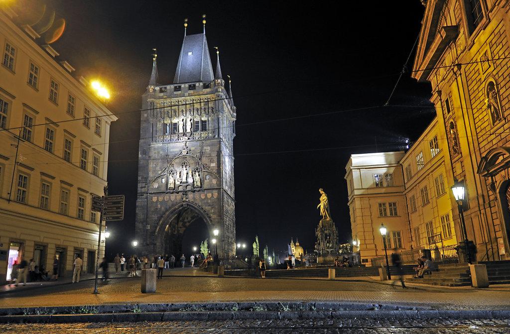 tschechien - prag - night shots - altstädter brückenturm