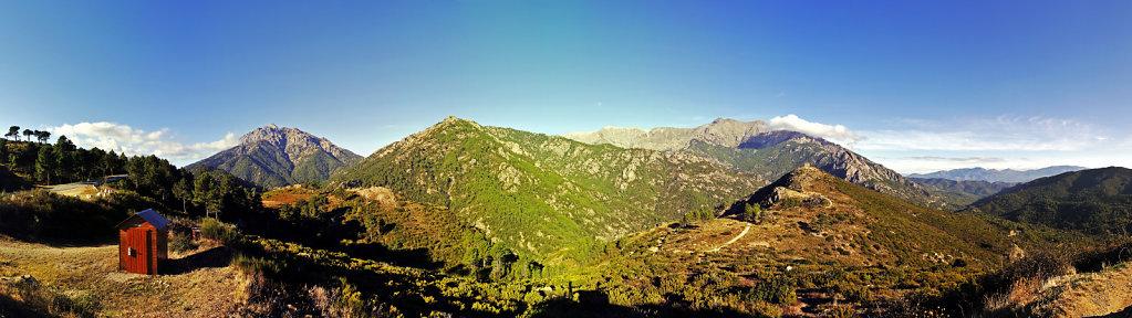 korsika  - vivario – monte d`oro  und fort de pascoilo - 180°
