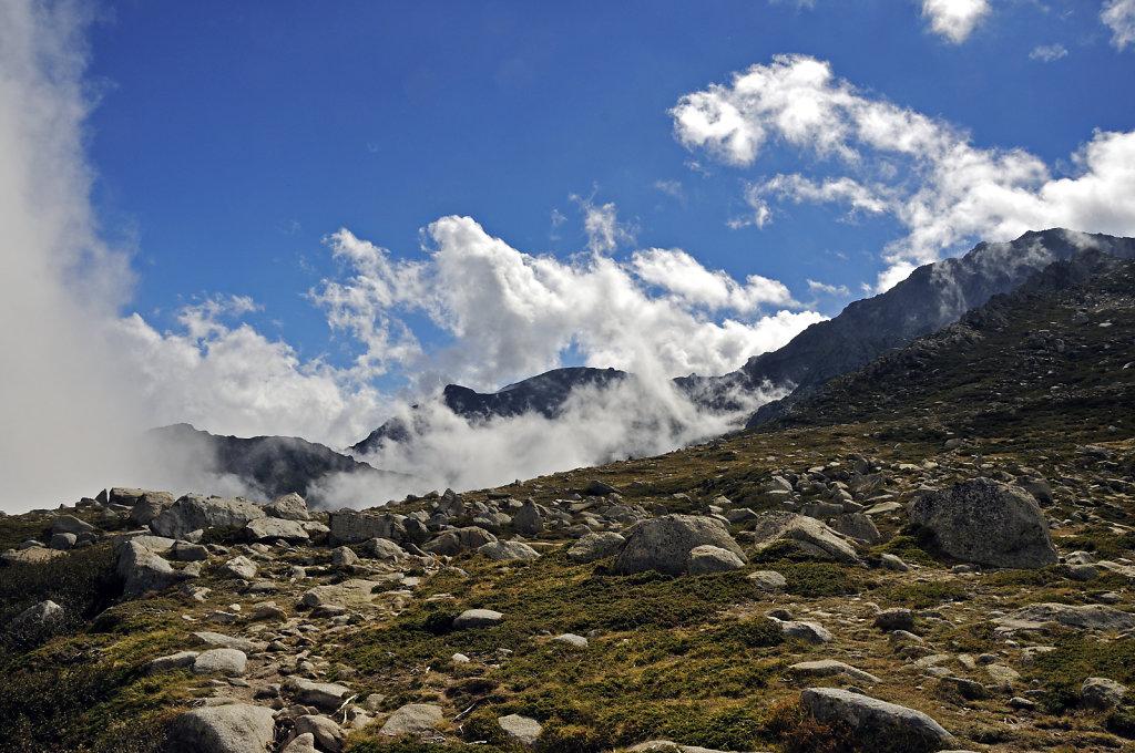 Aufstieg zum Monte Renoso und dem Bastanisee