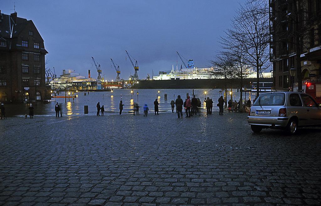 hamburg - sturmflut dezember 2013 – fischmarkt teil 2
