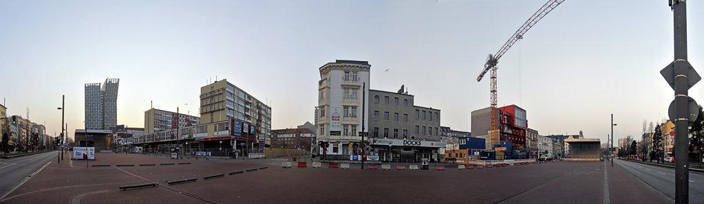 hamburg – st.pauli - spielbudenplatz - 180 ° teilpanorama