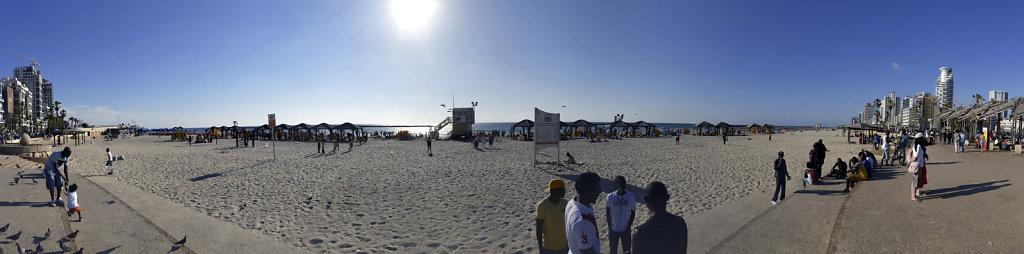 israel – tel aviv - am strand - 180°