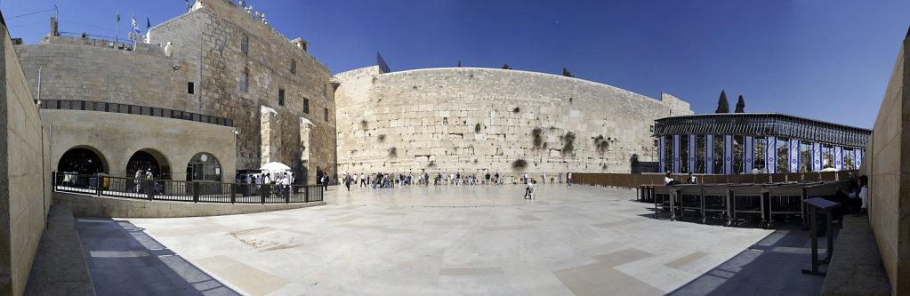 israel – jerusalem - die klagemauer teilpanorama