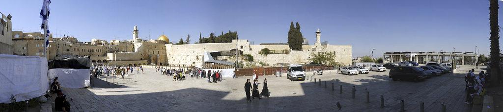israel – jerusalem - die klagemauer - teilpanorama 2