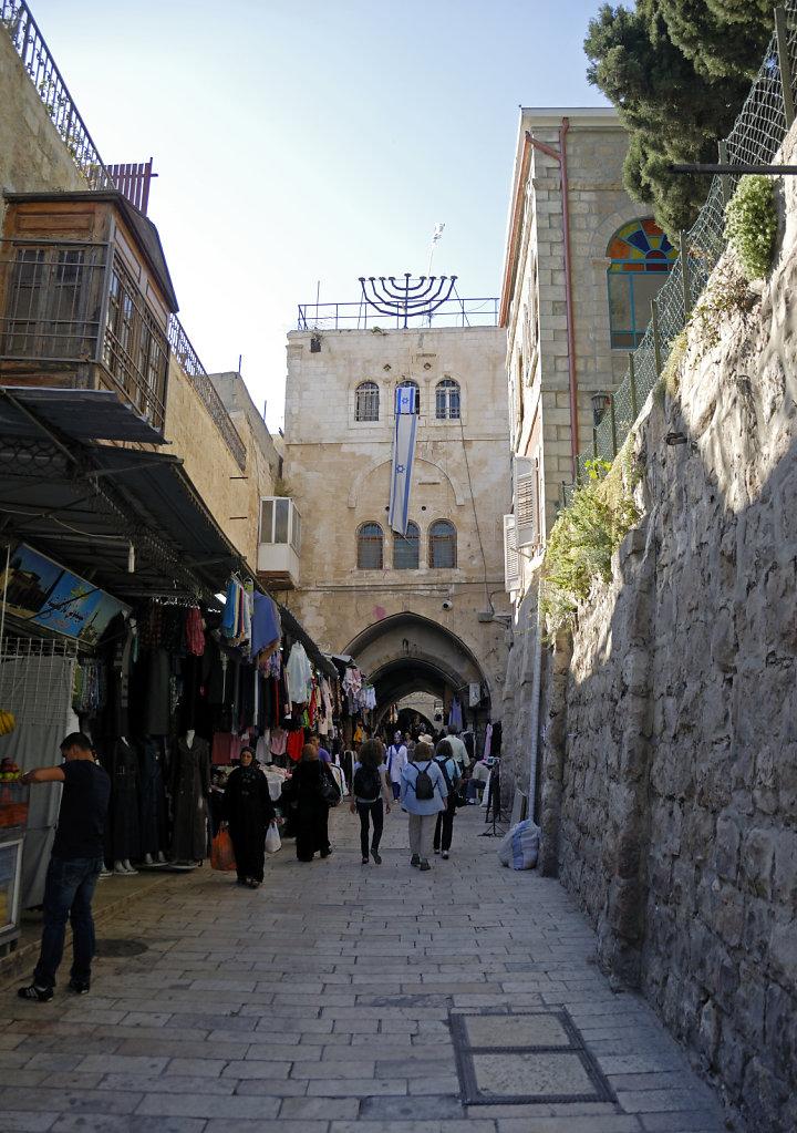 israel – jerusalem - in der altstadt – der krieg der steine