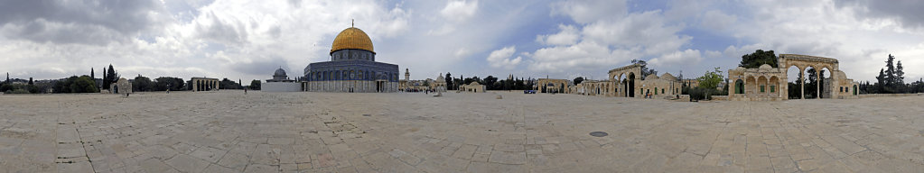 israel – jerusalem - der tempelberg - 360° panorama