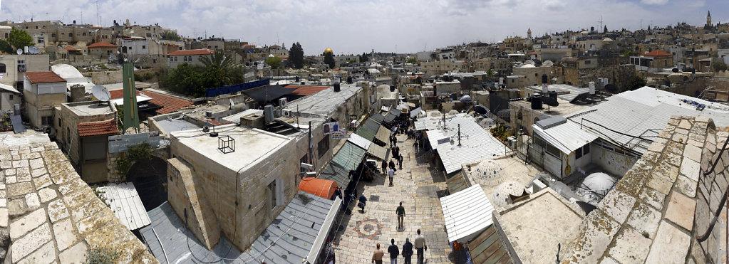 israel – jerusalem - der blick von der mauer –am damaskus to