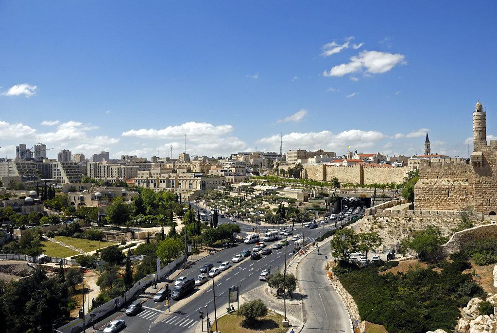 israel – jerusalem - der blick von der mauer – westjerusalem