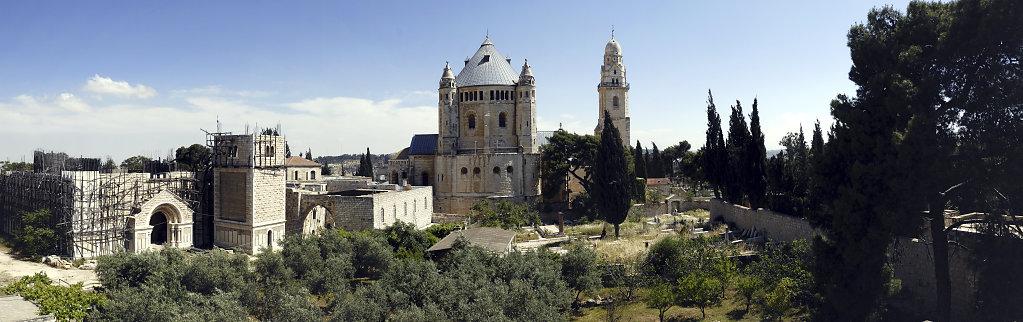 israel – jerusalem - der blick von der mauer – berg zion
