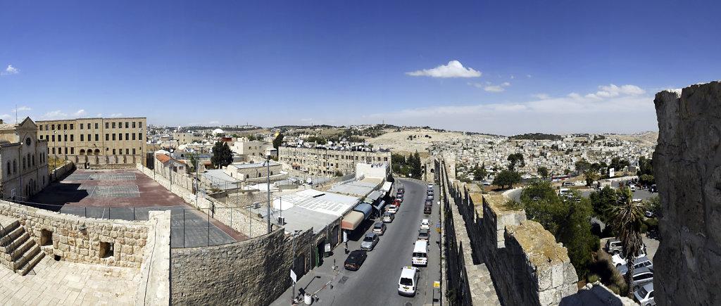 israel – jerusalem - der blick von der mauer – teilpanorama