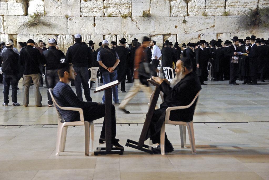 israel – jerusalem - vor der klagemauer  nachts – schüler u