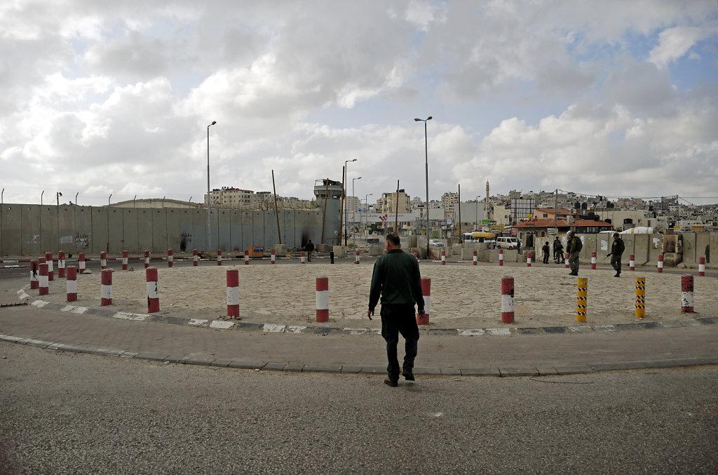 palästina- ramallah - qalandia - showdown