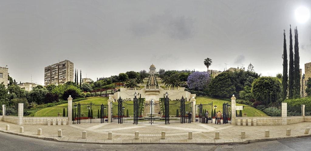 israel – haifa - die gärten der bahai teilpanorama