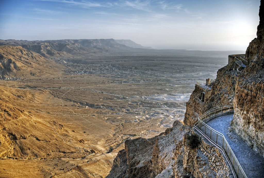 israel- totes meer - masada  – norden
