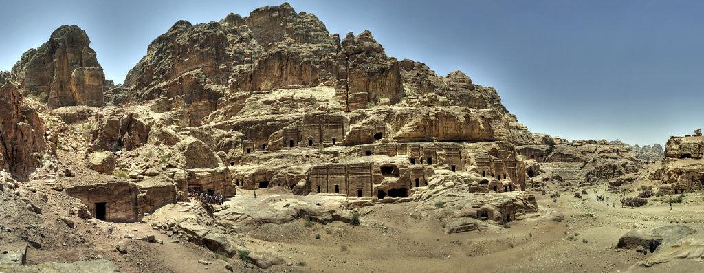 jordanien - petra teilpanorama