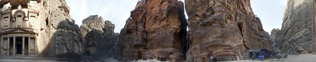 jordanien - petra - al kazane / das schatzhaus 360 ° panorama