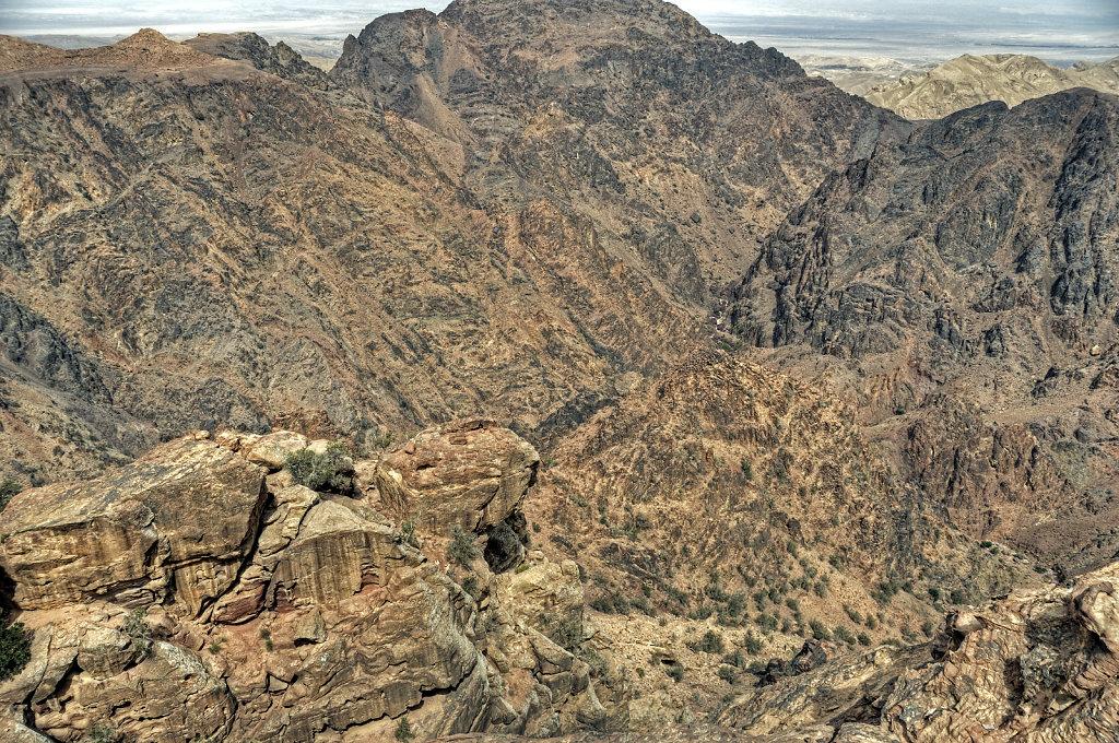 jordanien - petra - blick ins tal