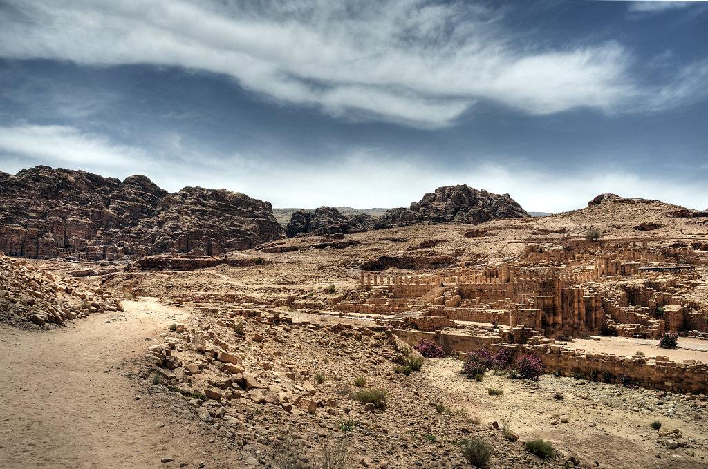 jordanien - petra - der große tempel teil 2