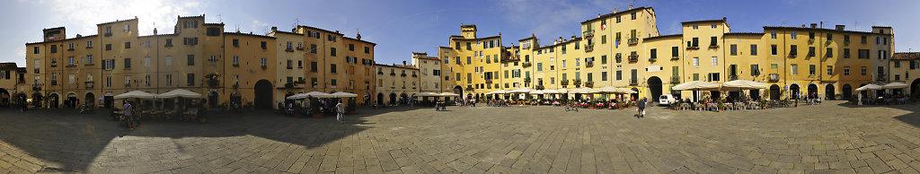italien- lucca - 360° panorama piazza anfiteatro