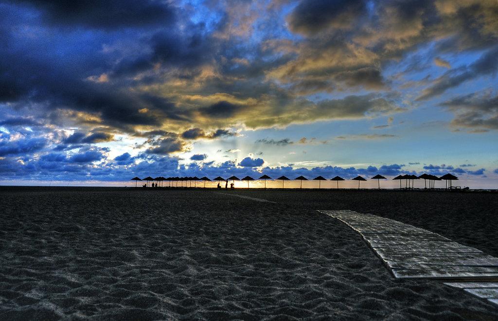 italien - sardinien - spiaggia piscinas - sonnenuntergang