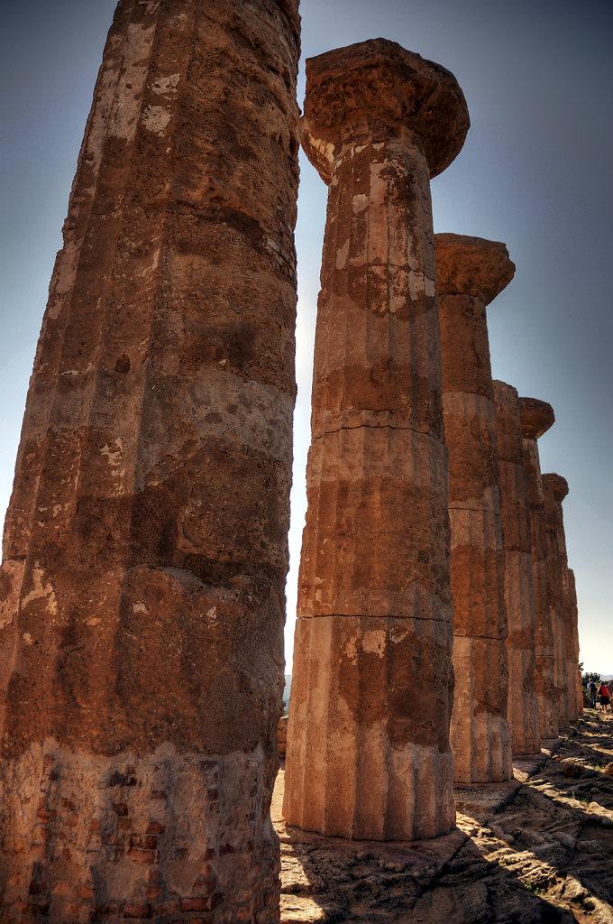 sizilien (19) - tal der tempel - herkulestempel