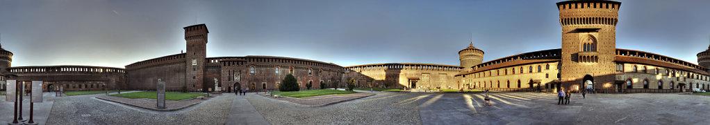 mailand (32) - castello sforzesco 360° panorama
