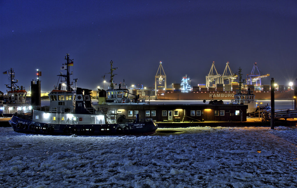 hamburg hafen - im winter teil 3 - fairplay vi
