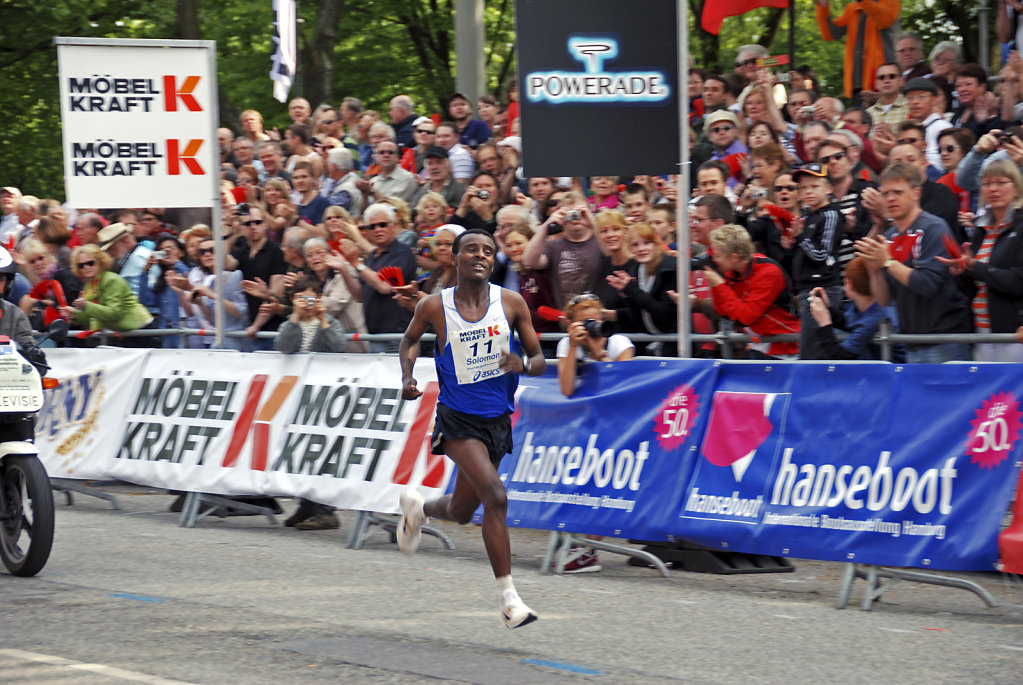 hamburg marathon 2009 - zieleinlauf solomon tside