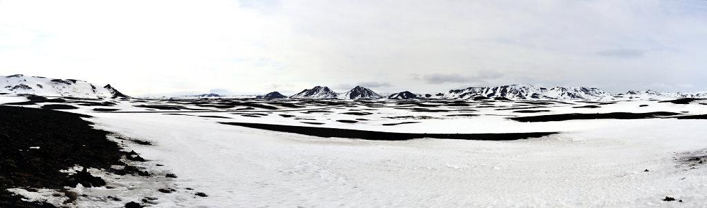island – auf dem weg nach mývatn - teilpanorama
