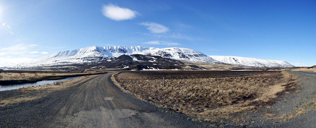 island – auf dem weg nach akureyri (04) teilpanorama nummer zw