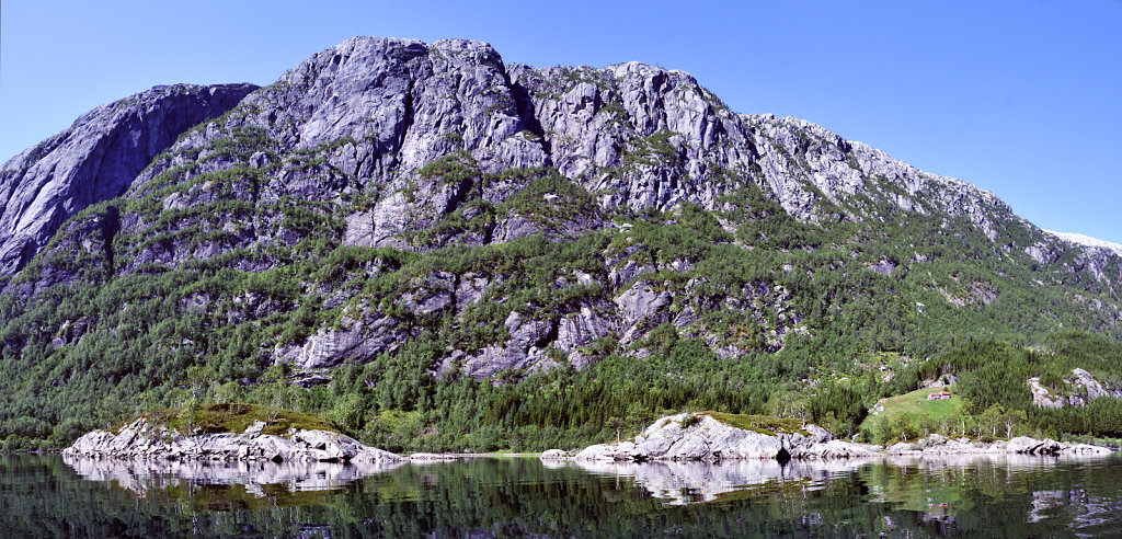 norwegen (31) - røldalsvatnet teilpanoirama teil zwei