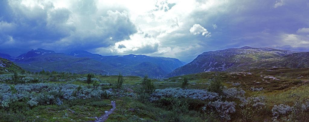 norwegen (82)  - unterwegs auf der 55 - teilpanorama teil 2