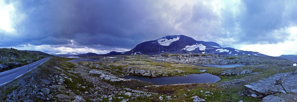 norwegen (90)  - unterwegs auf der 55 - teilpanorama teil 4