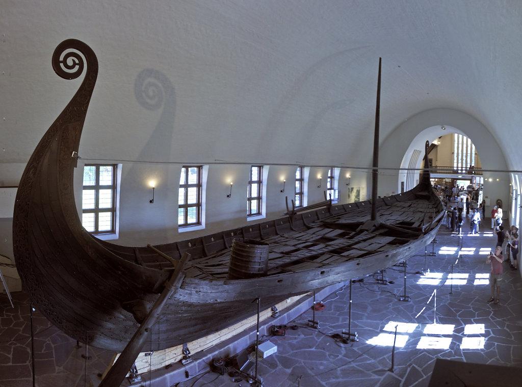 norwegen (165)  - oslo - wikingerschiffhaus museum - teilpanoram