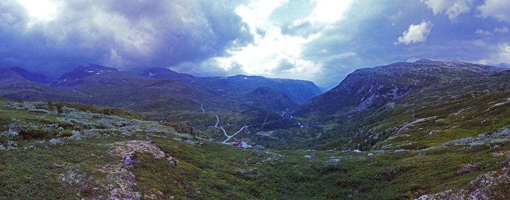 norwegen (83)  - unterwegs auf der 55 - teilpanorama teil 3