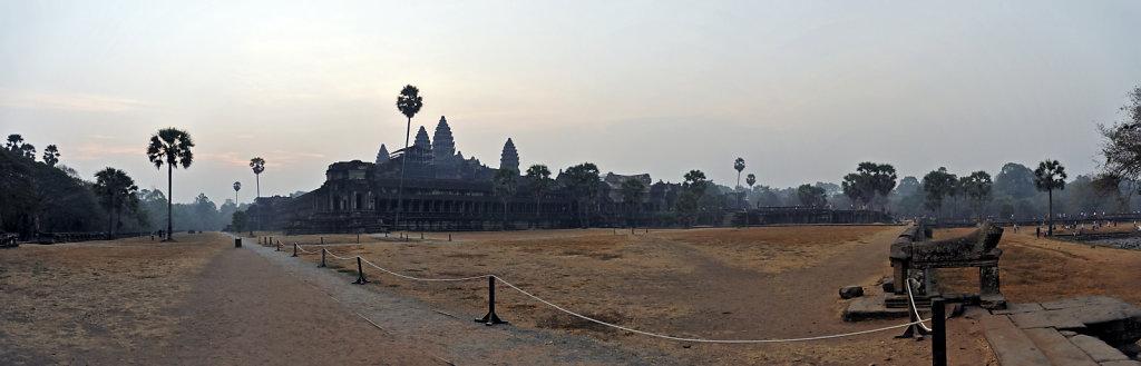 kambodscha - tempel von angkor - angkor wat (05) - teilpanorama