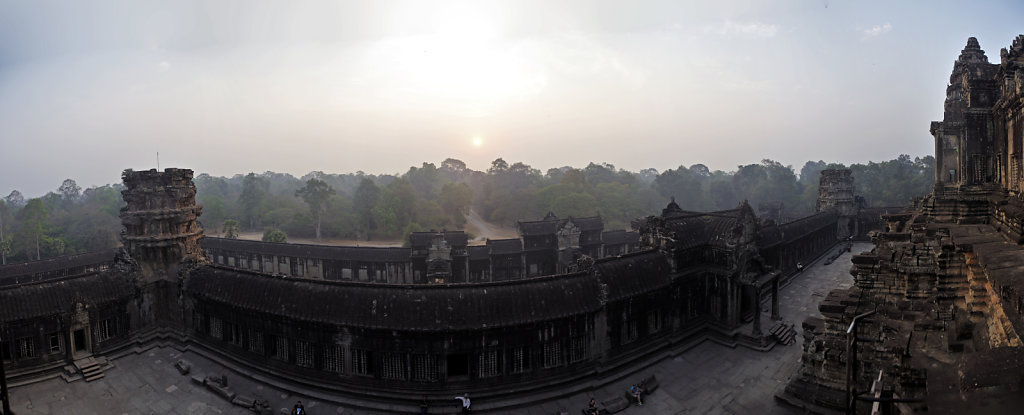kambodscha - tempel von angkor - angkor wat (22) - teilpanorama
