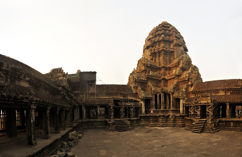 kambodscha - tempel von angkor - angkor wat (23) - teilpanorama