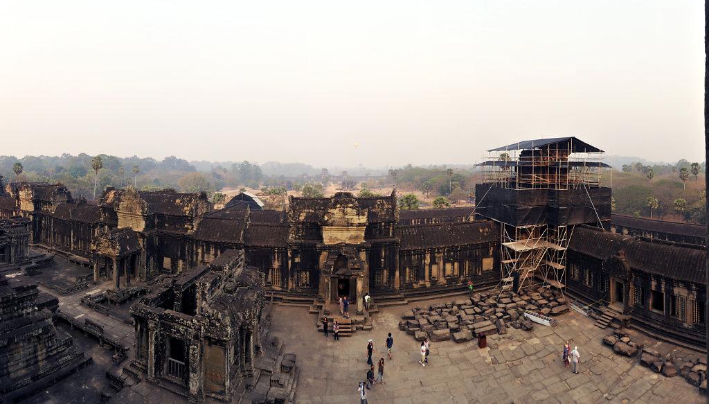 kambodscha - tempel von angkor - angkor wat (29) - teilpanorama