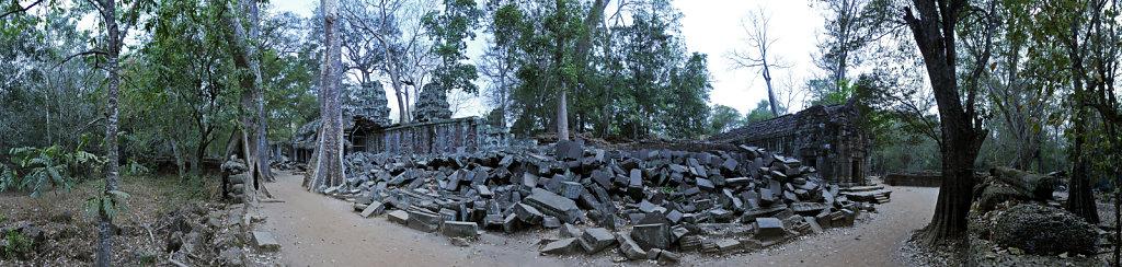 kambodscha - tempel von anghor - ta prohm (58) - teilpanorama te