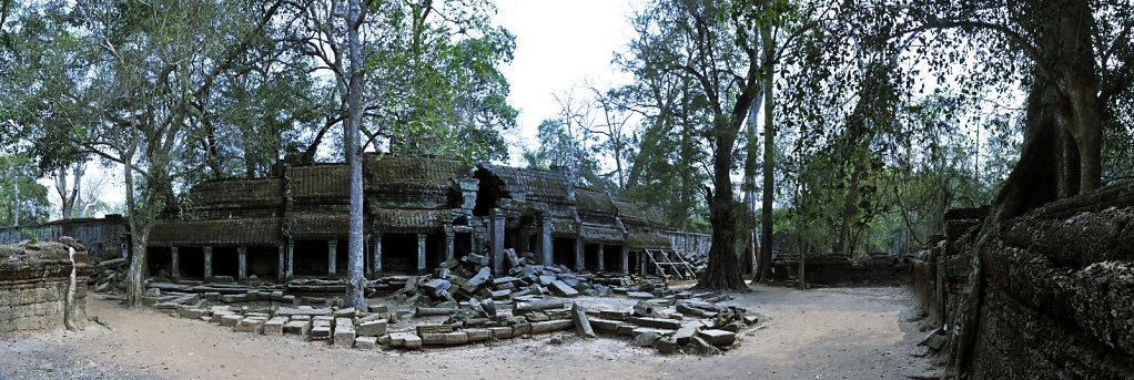 kambodscha - tempel von anghor - ta prohm (59) - teilpanorama te