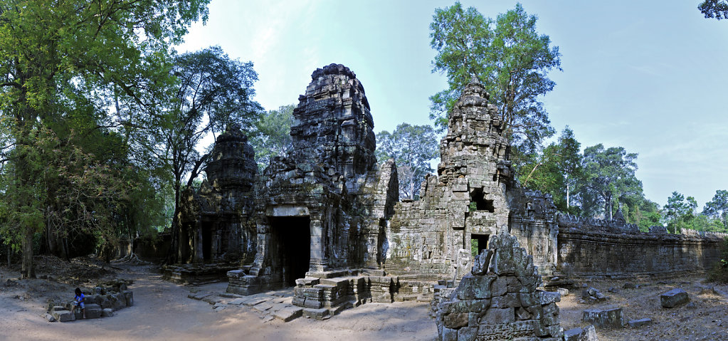 kambodscha - tempel von anghor -preak khan - teilpanorama teil z