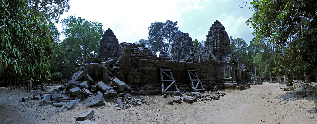 kambodscha - tempel von anghor - - ta som  - teilpanorama (16)